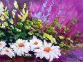 Como pintar flores con acrílico paso a paso