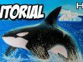 Cómo dibujar una orca paso a paso con lápices pastel