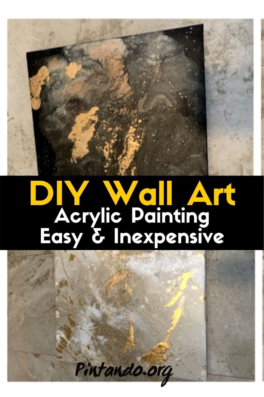 DIY Wall Art _ Acrylic Painting _ Easy & Inexpensive-min