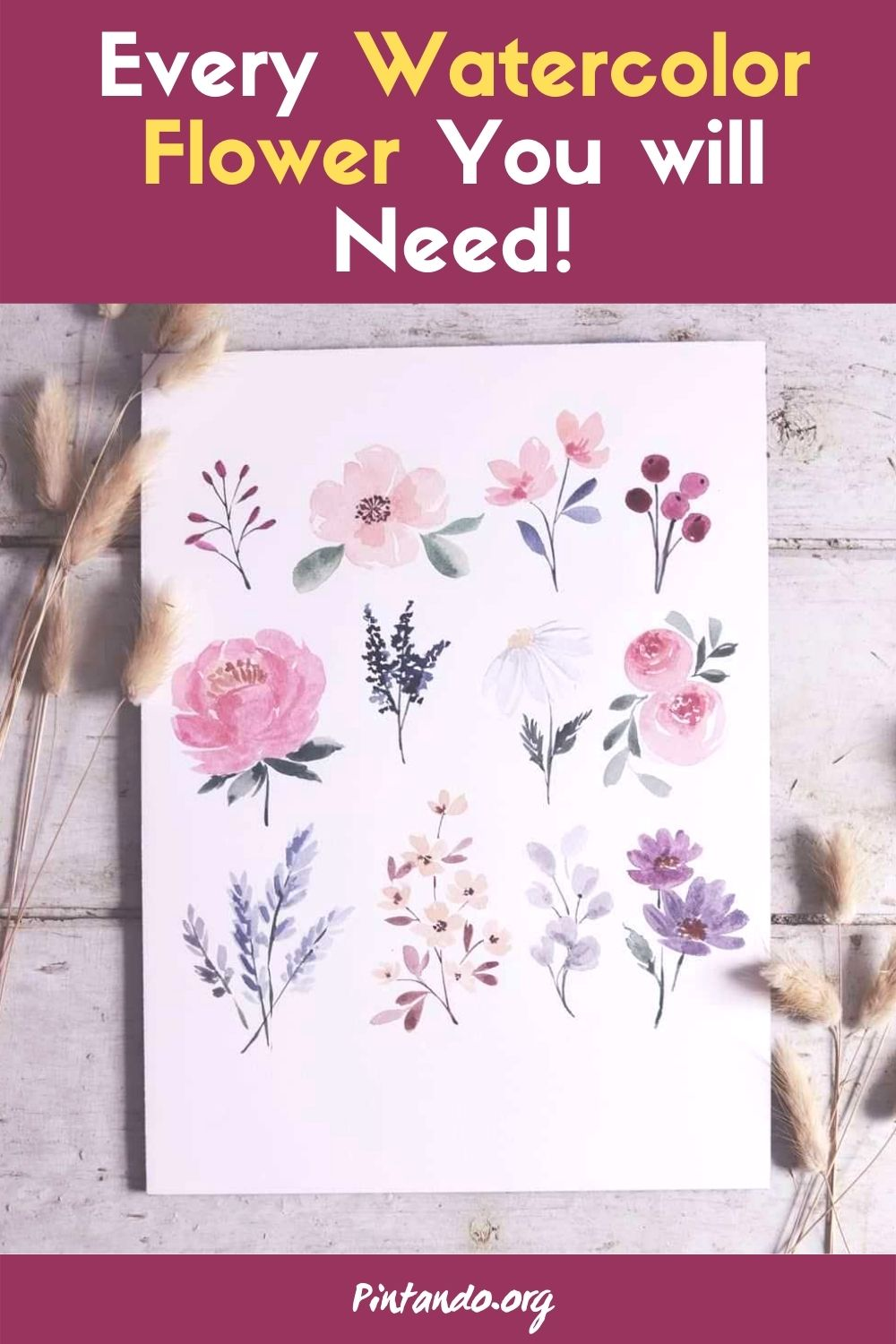 Every Watercolor Flower You will Ever Need!