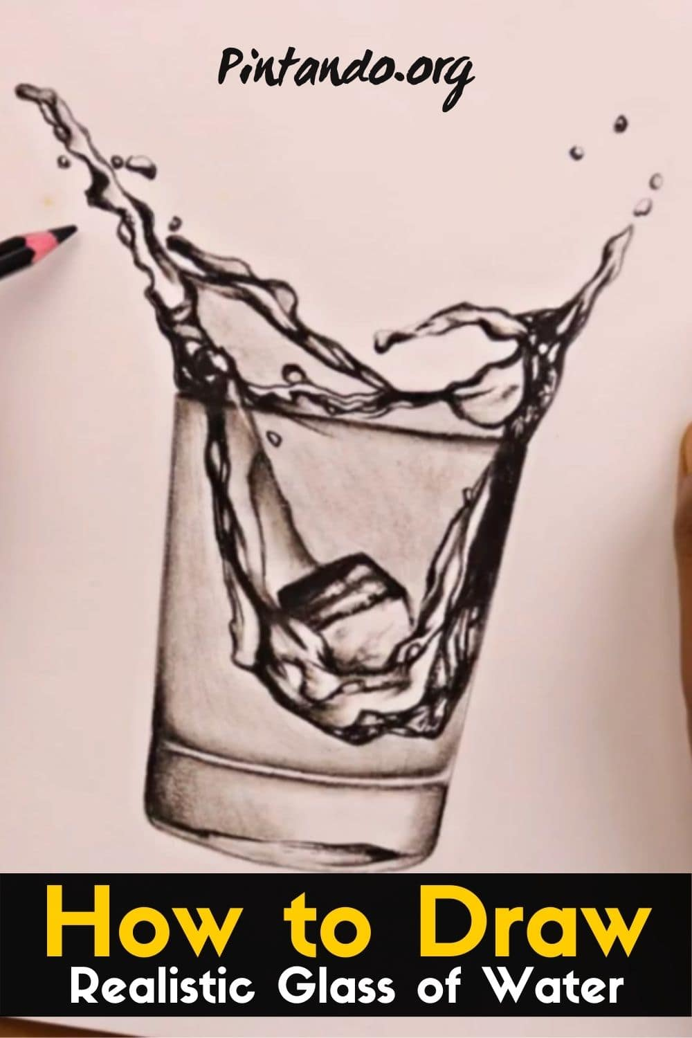 How to Draw a Realistic Glass of Water _ Learn to Draw -min (1)
