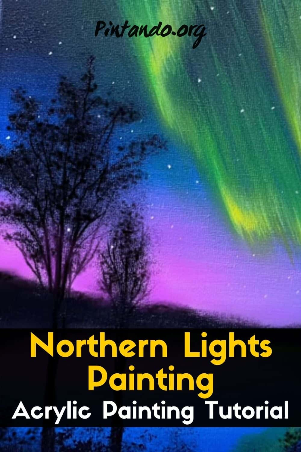Northern Lights Painting _ Acrylic Painting Tutorial _ STEP By STE-min