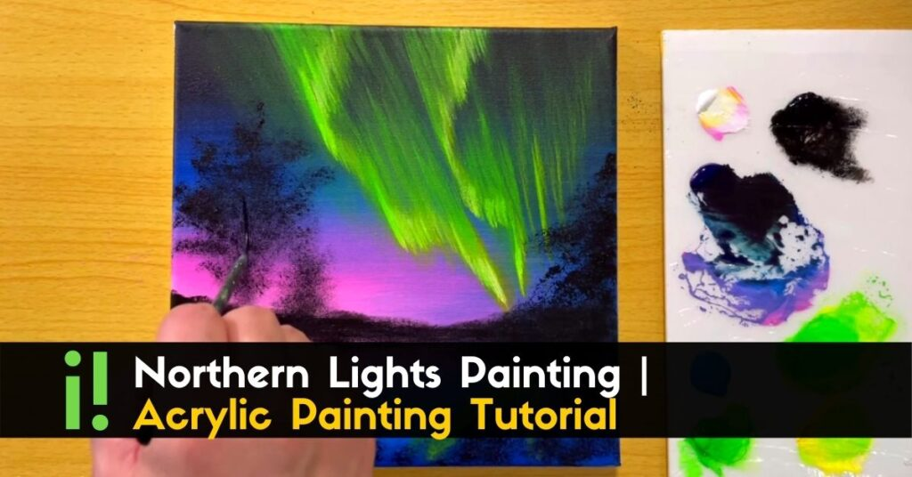 Northern Lights Painting _ Acrylic Painting Tutorial _ STEP By STEP