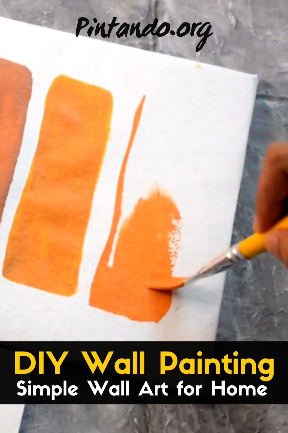 Simple Wall Art for Home _ DIY Wall Painting