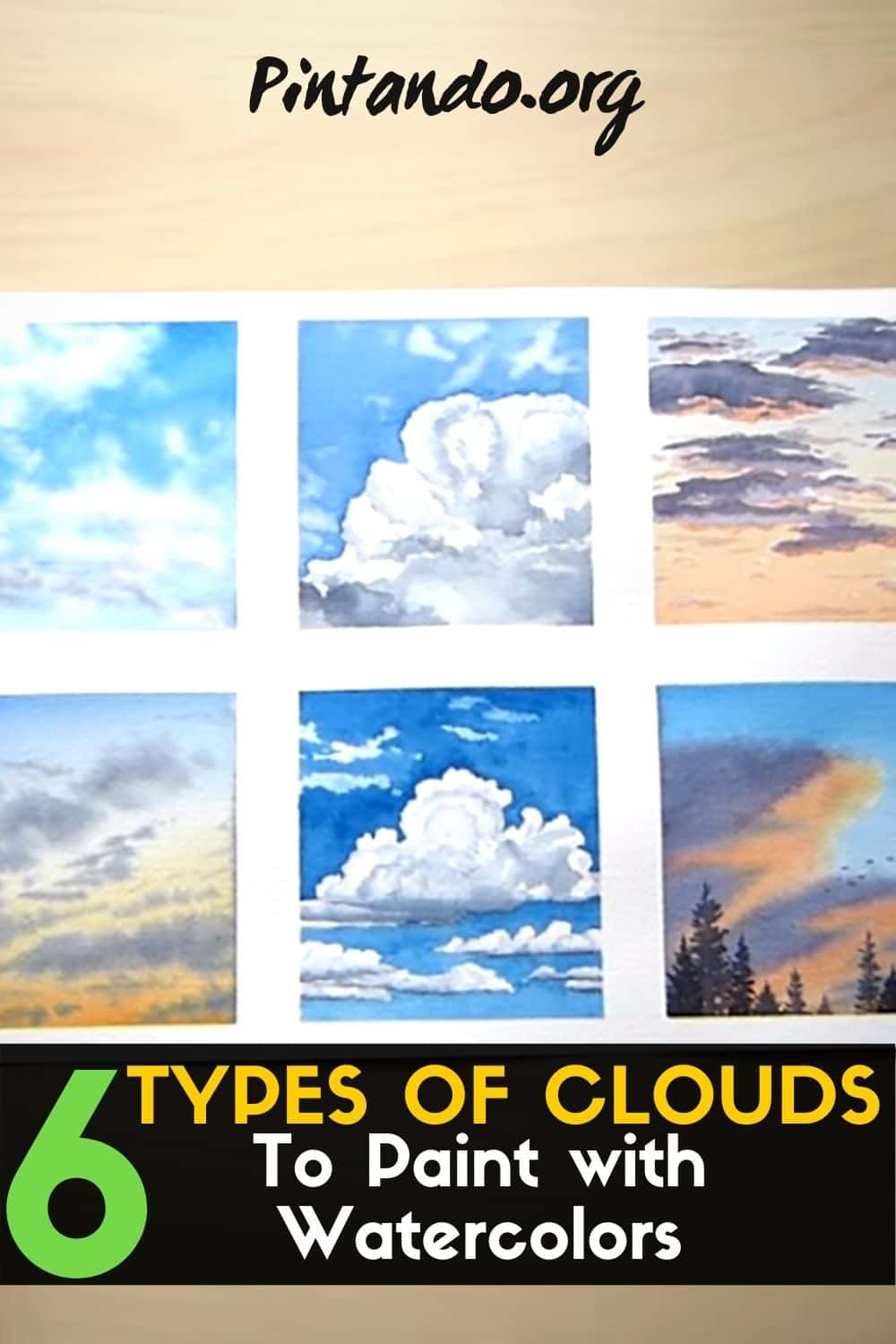 6 Types of Clouds to Paint with Watercolors (1)-min