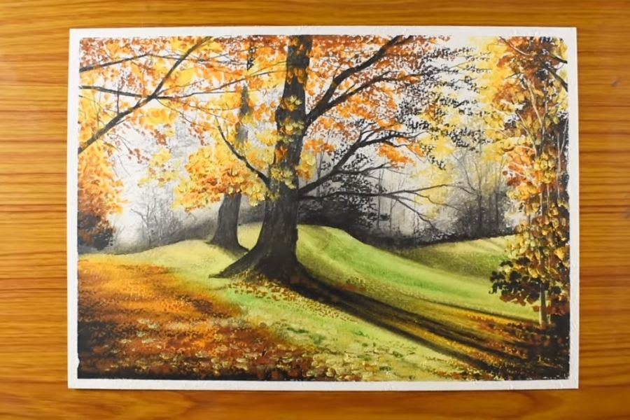 pintura de arbol