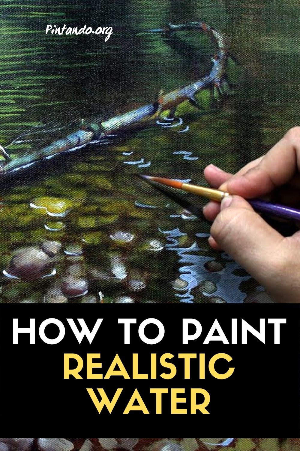 How to paint realistic water