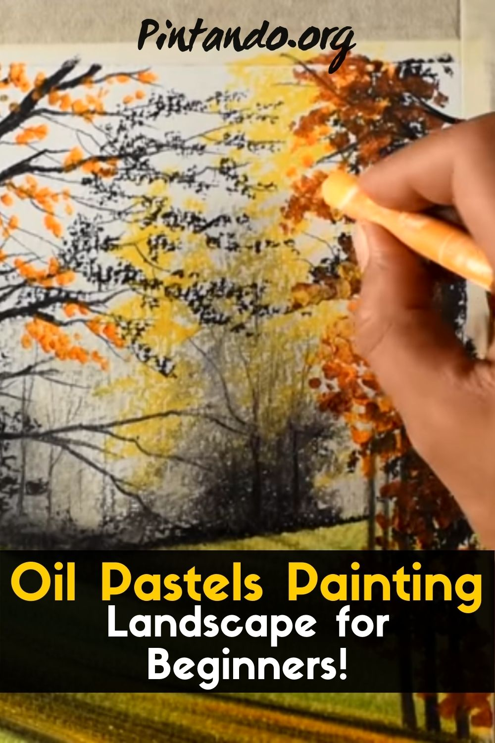 Oil Pastels Painting Landscape for Beginners! (1)