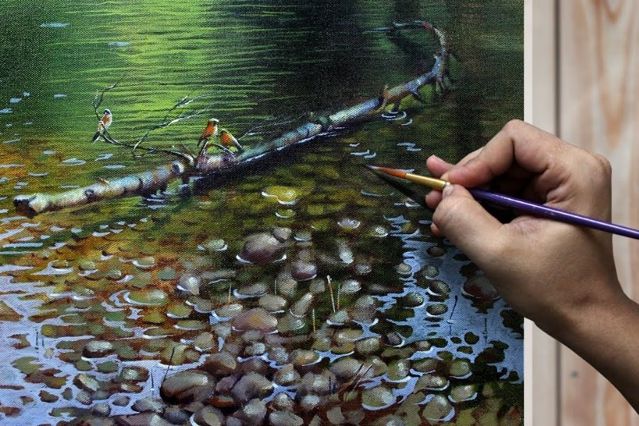 Quick and Easy Way to Paint Realistic Water