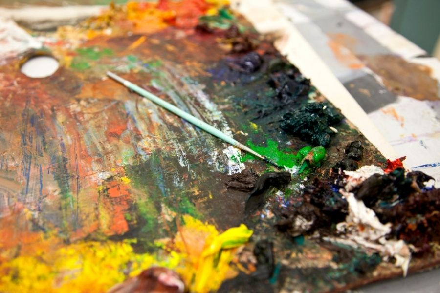 HOW TO CLEAN A PAINT PALETTE (1)