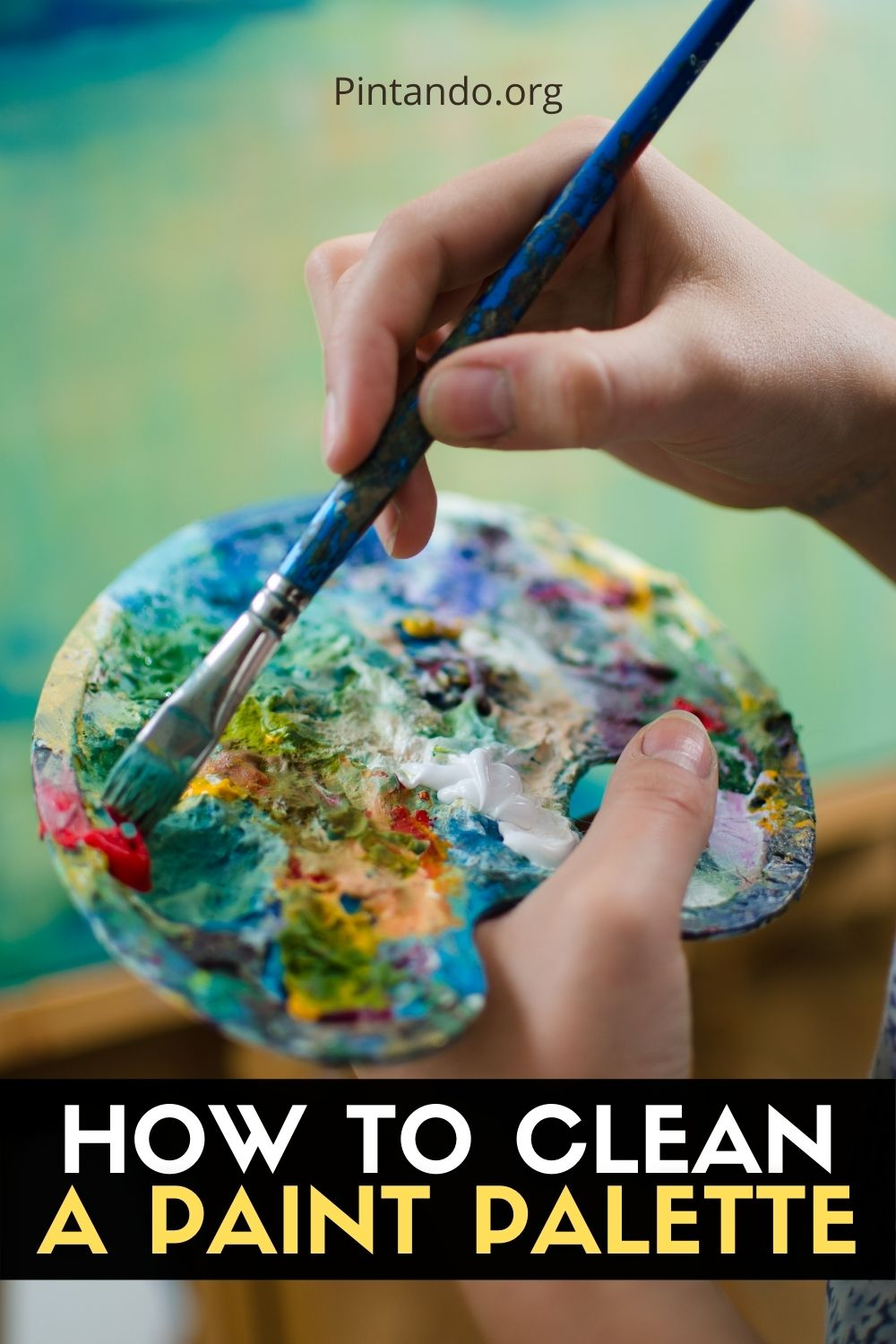 HOW TO CLEAN A PAINT PALETTE