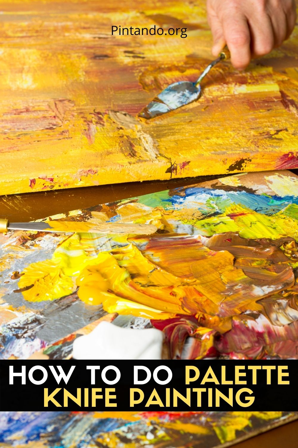 HOW TO DOA PALETTE KNIFE PAINTING (2)