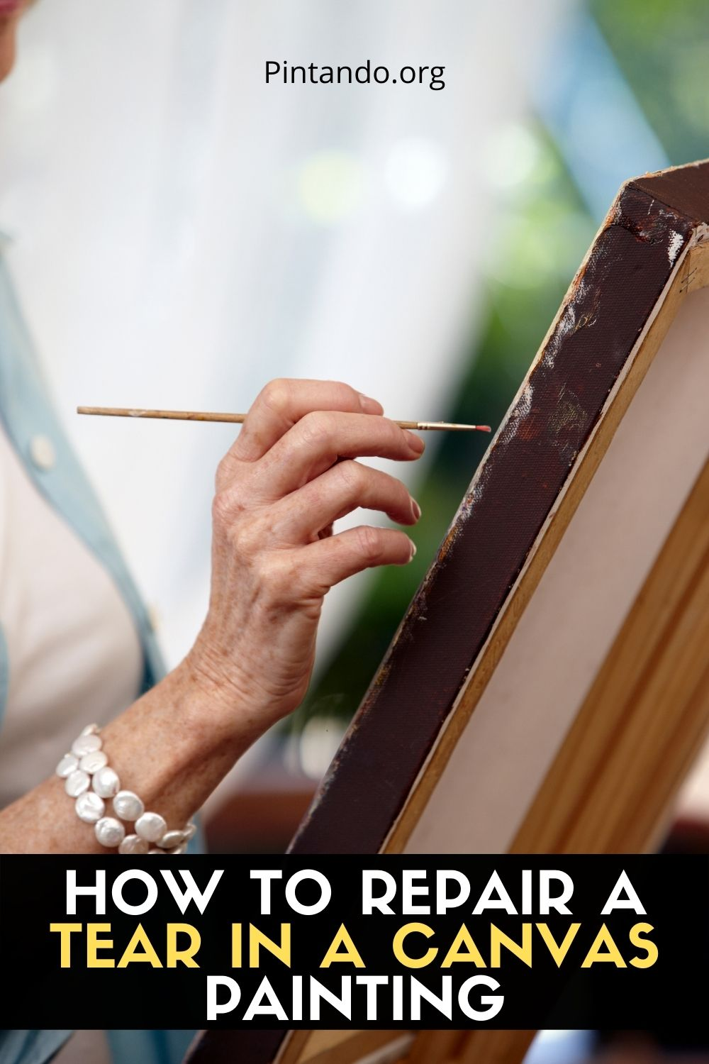 HOW TO REPAIR A TEAR IN A CANVAS PAINTING
