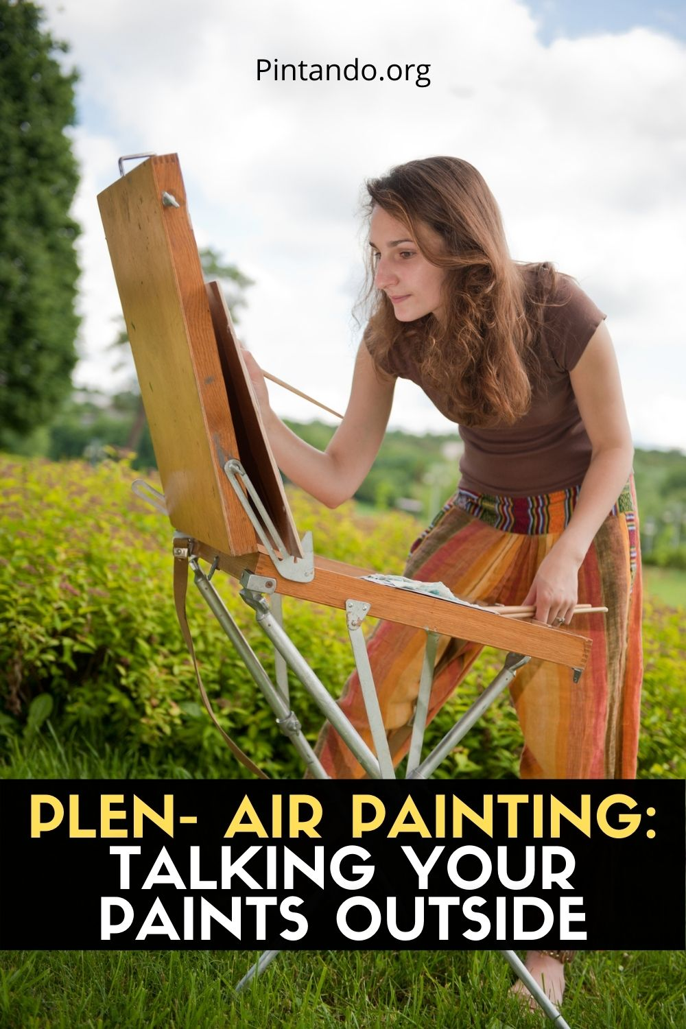 PLEN- AIR PAINTING TALKING YOUR PAINTS OUTSIDE