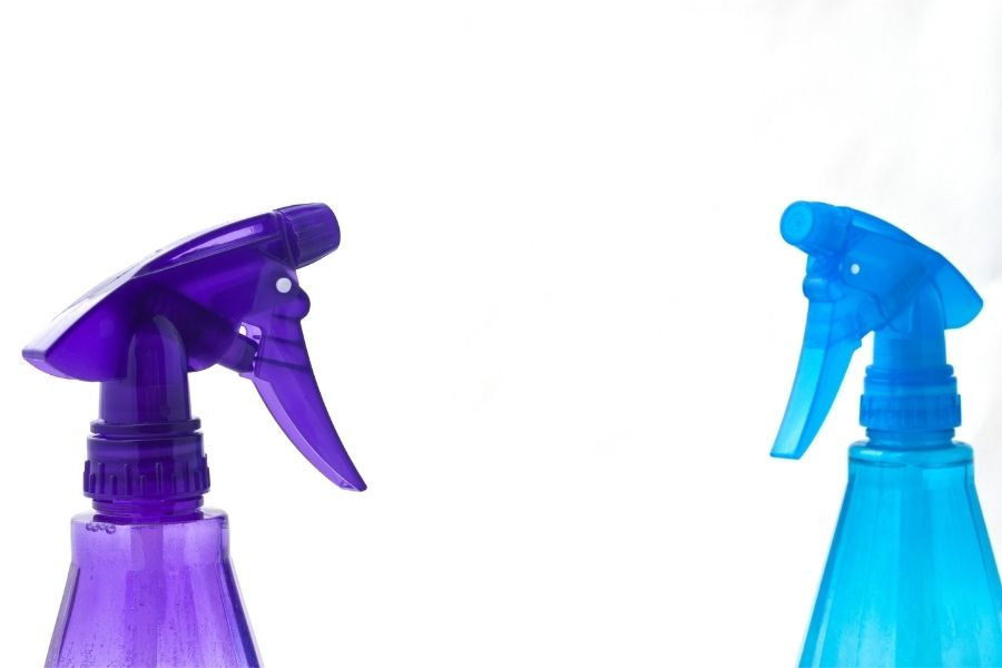 Rinse the paint off with a spray bottle or under the tap.