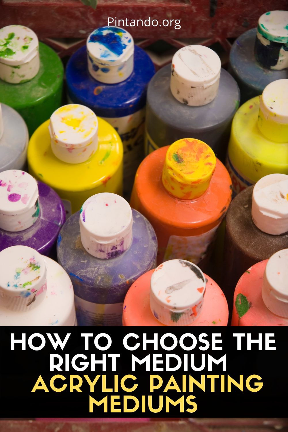 HOW TO CHOOSE THE RIGHT MEDIUM - ACRYLIC PAINTING MEDIUMS