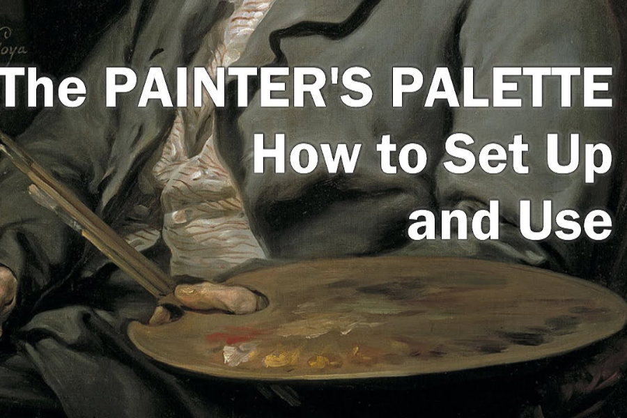 How to SET UP A PALETTE FOR PAINTING in Oil or AcryliL