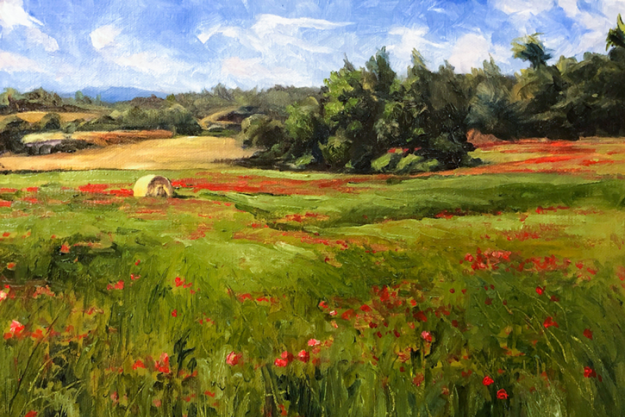 SMALL LANDSCAPE OF A FIELD OF FLOWERS (1)