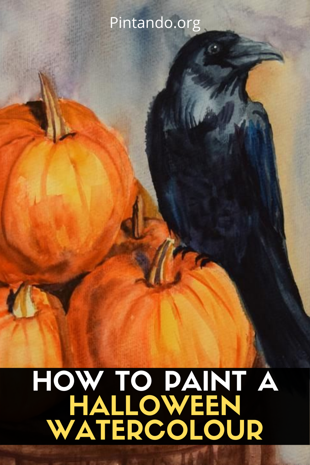 HOW TO PAINT A HALLOWEEN WATERCOLOUR (1)