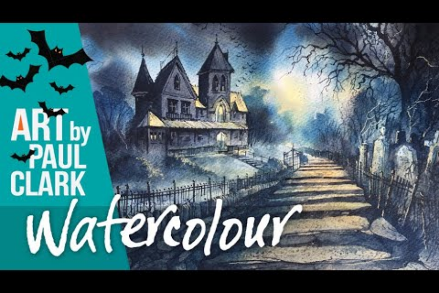 HOW TO PAINT A HALLOWEEN WATERCOLOUR