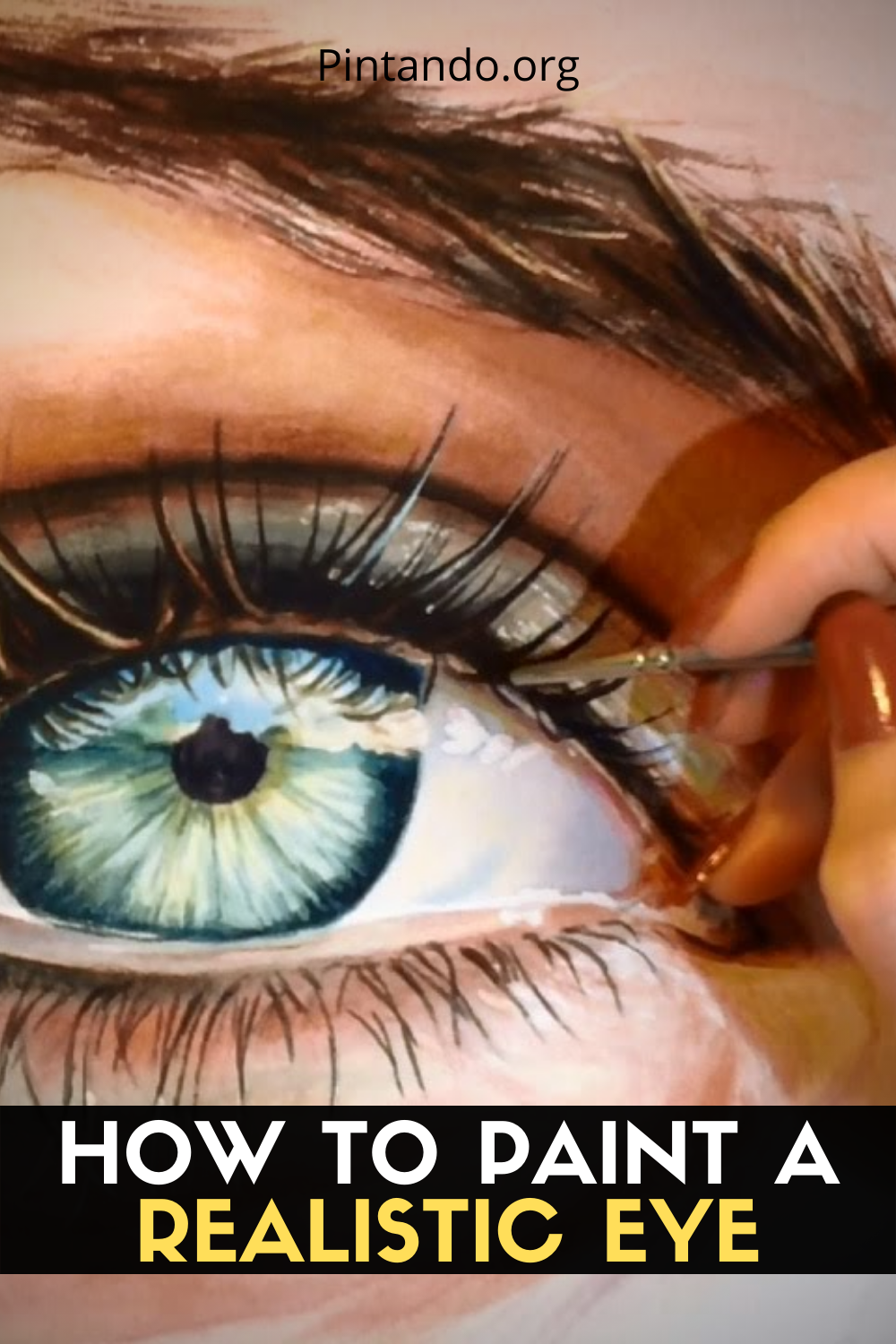 HOW TO PAINT A REALISTIC EYE (1)