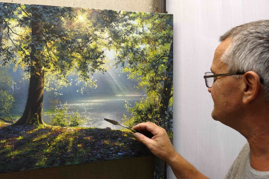 HOW TO PAINT ACRYLIC TREES AND LANDSCAPES