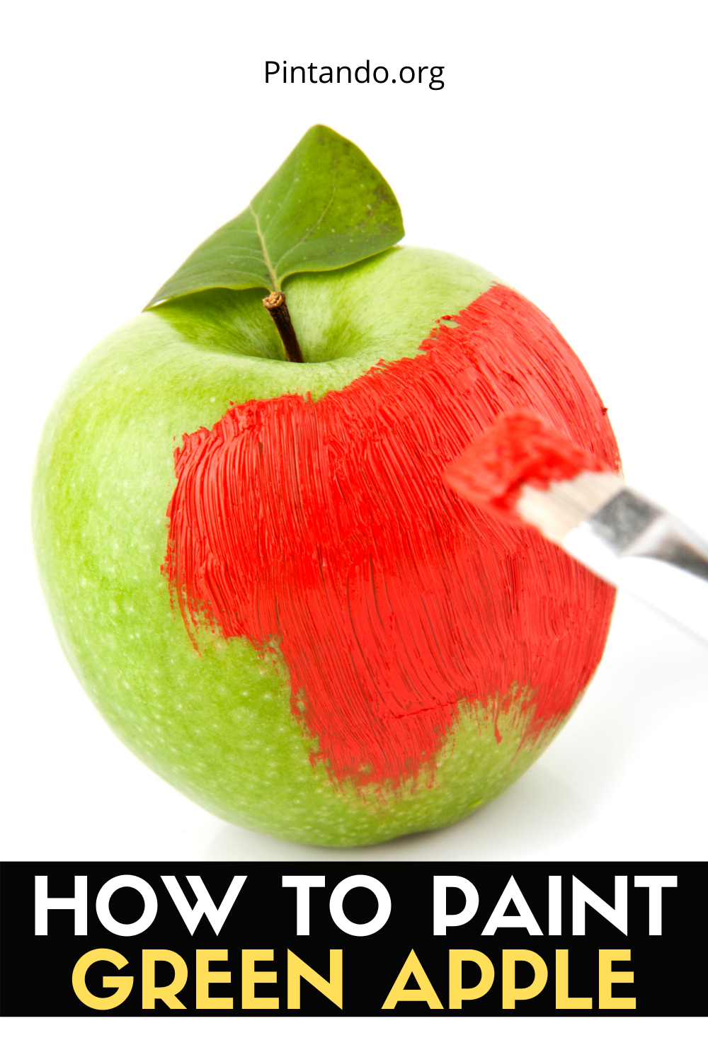 HOW TO PAINT GREEN APPLE (1)