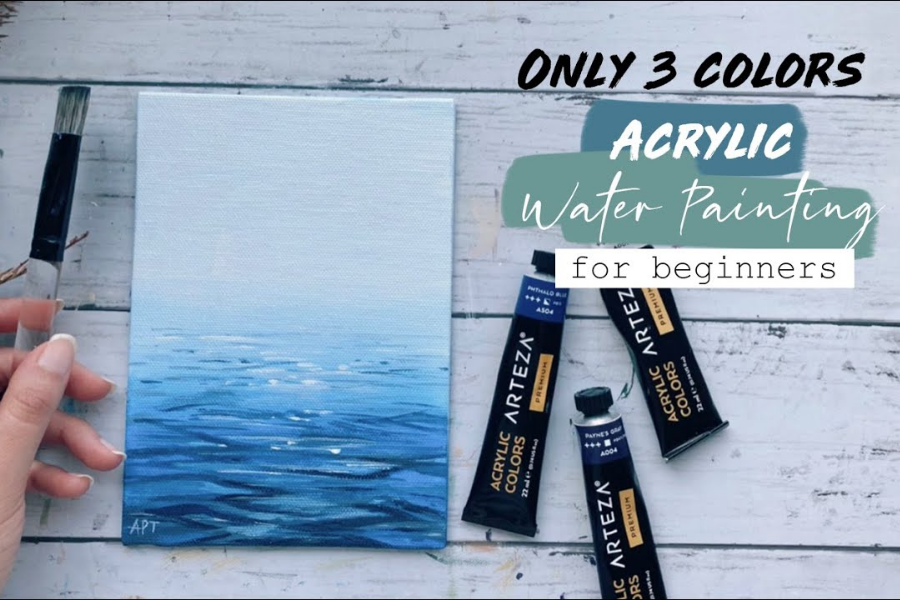 HOW TO PAINT WATER WITH ACRYLIC