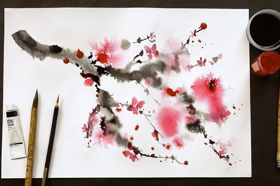HOW TO PAINT WITH CHINESE WATERCOLOR TECHNIQUES