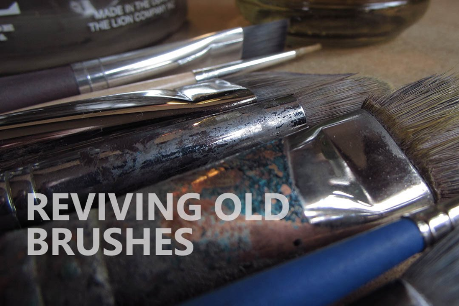 HOW TO RESTORE DRIED UP OIL PAINT BRUSHES