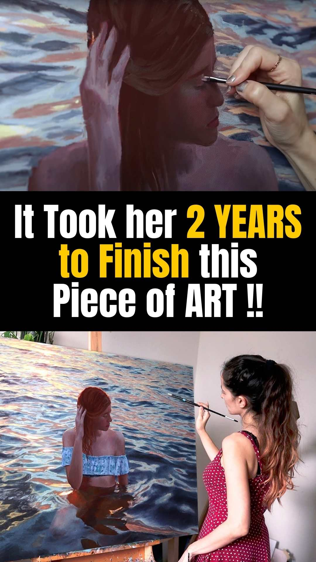It Took her 2 YEARS to Finish this Piece of ART !!