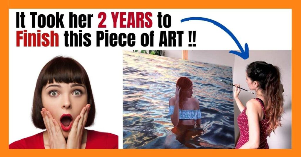 It took her 2 years to finish this piece of art